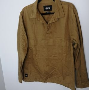 Native youth overhead 1/2 button down top